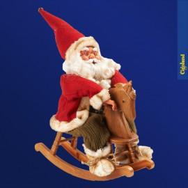 Père Noël animé sur cheval