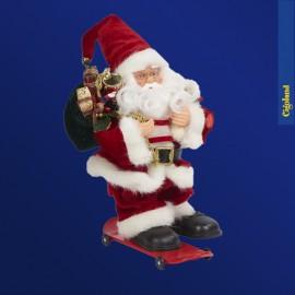 Père Noël en skateboard