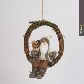 Couronne suspendue avec Père Noël