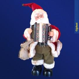 Père Noël avec accordéon